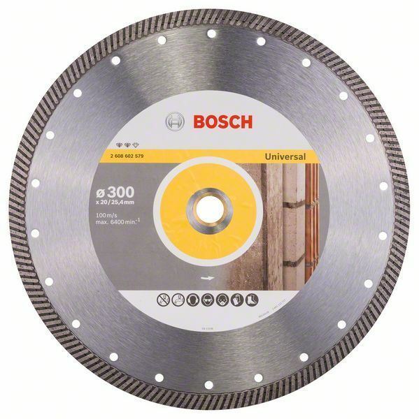 Diamantový dělicí kotouč Expert for Universal Turbo - 300 x 20,00+25,40 x 2,2 x 12 mm BOSCH