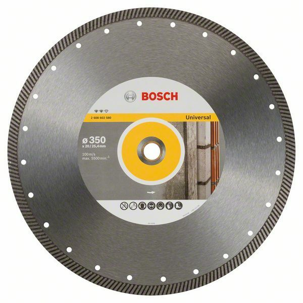 Diamantový dělicí kotouč Expert for Universal Turbo - 350 x 20,00+25,40 x 2,2 x 12 mm BOSCH