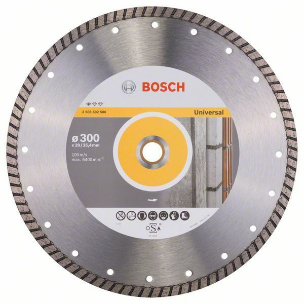 Diamantový dělicí kotouč Standard for Universal Turbo - 300 x 20,00+25,40 x 3 x 10 mm BOSCH