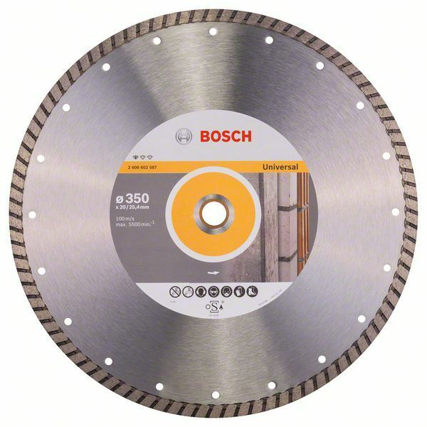 Diamantový dělicí kotouč Standard for Universal Turbo - 350 x 20,00+25,40 x 3 x 10 mm BOSCH
