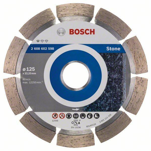 Diamantový dělicí kotouč Standard for Stone - 125 x 22,23 x 1,6 x 10 mm - 3165140581042 BOSCH
