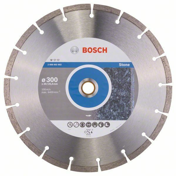 Diamantový dělicí kotouč Standard for Stone - 300 x 20,00+25,40 x 3,1 x 10 mm BOSCH