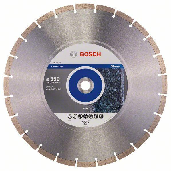 Diamantový dělicí kotouč Standard for Stone - 350 x 20,00+25,40 x 3,1 x 10 mm BOSCH