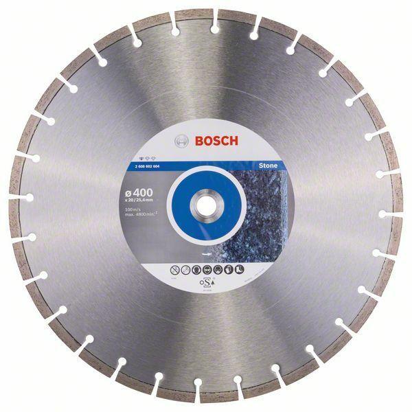 Diamantový dělicí kotouč Standard for Stone - 400 x 20,00+25,40 x 3,2 x 10 mm BOSCH