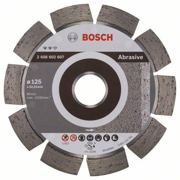 Diamantový dělicí kotouč Expert for Abrasive - 125 x 22,23 x 1,6 x 10 mm - 3165140581134 BOSCH