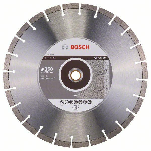 Diamantový dělicí kotouč Expert for Abrasive - 350 x 20,00+25,40 x 3,2 x 12 mm BOSCH
