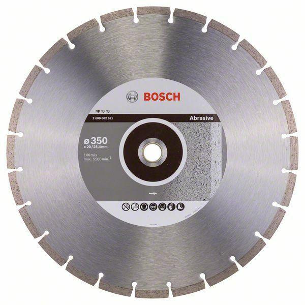 Diamantový dělicí kotouč Standard for Abrasive - 350 x 20,00+25,40 x 2,8 x 10 mm BOSCH