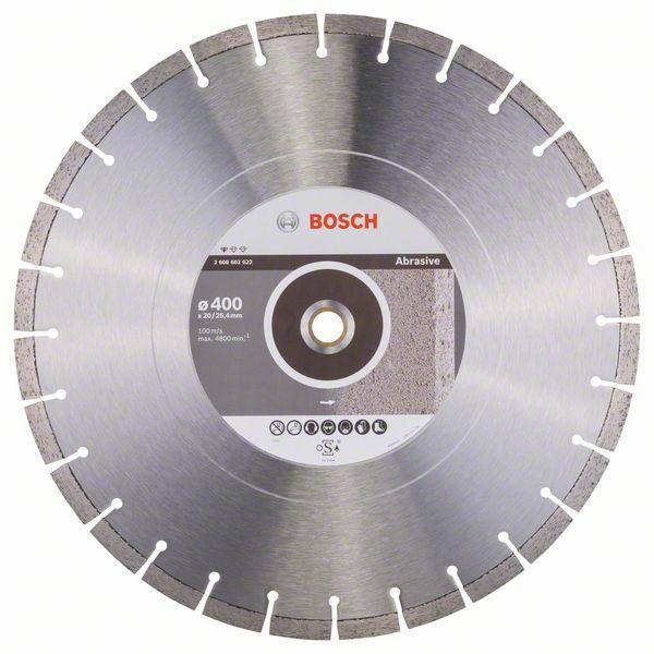 Diamantový dělicí kotouč Standard for Abrasive - 400 x 20,00+25,40 x 3,2 x 10 mm BOSCH
