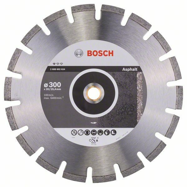 Diamantový dělicí kotouč Standard for Asphalt - 300 x 20/25,40 x 2,8 x 10 mm - 31651405813 BOSCH