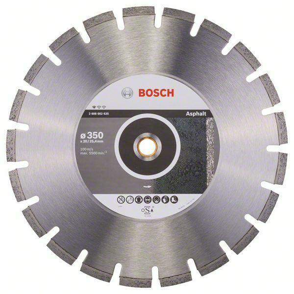 Diamantový dělicí kotouč Standard for Asphalt - 350 x 20/25,40 x 3,2 x 10 mm - 31651405813 BOSCH