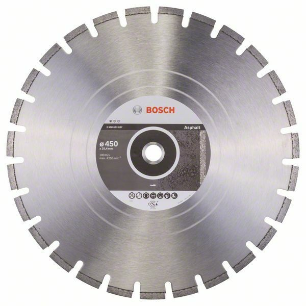 Diamantový dělicí kotouč Standard for Asphalt - 450 x 25,40 x 3,2 x 10 mm - 3165140581332 BOSCH