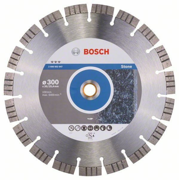 Diamantový dělicí kotouč Best for Stone - 300 x 20,00+25,40 x 2,8 x 15 mm - 3165140581530 BOSCH