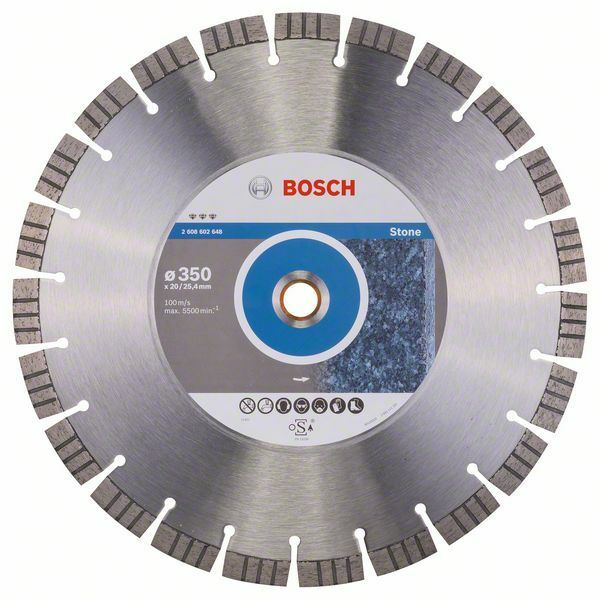 Diamantový dělicí kotouč Best for Stone - 350 x 20,00+25,40 x 3,2 x 15 mm - 3165140581547 BOSCH
