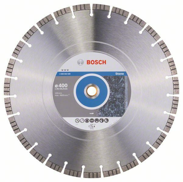 Diamantový dělicí kotouč Best for Stone - 400 x 20,00+25,40 x 3,2 x 12 mm - 3165140581554 BOSCH