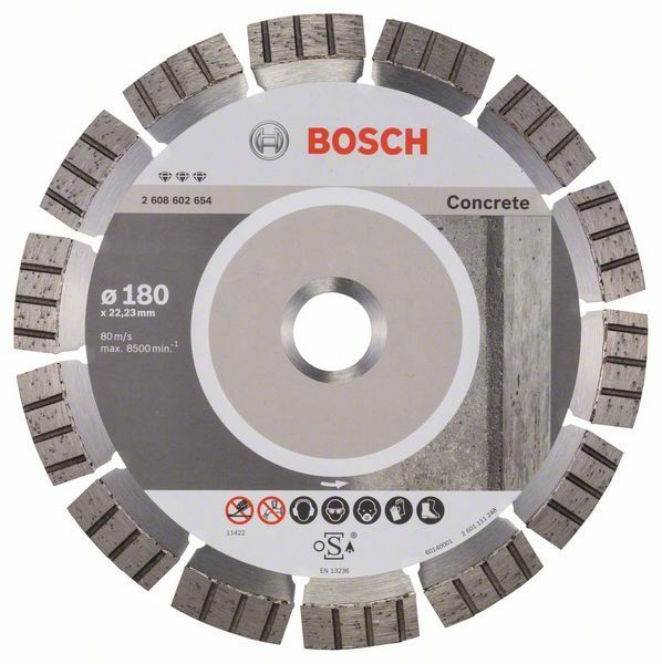 Diamantový dělicí kotouč Best for Concrete - 180 x 22,23 x 2,4 x 12 mm - 3165140581608 BOSCH