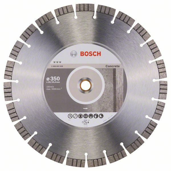 Diamantový dělicí kotouč Best for Concrete - 350 x 20,00+25,40 x 3,2 x 15 mm BOSCH
