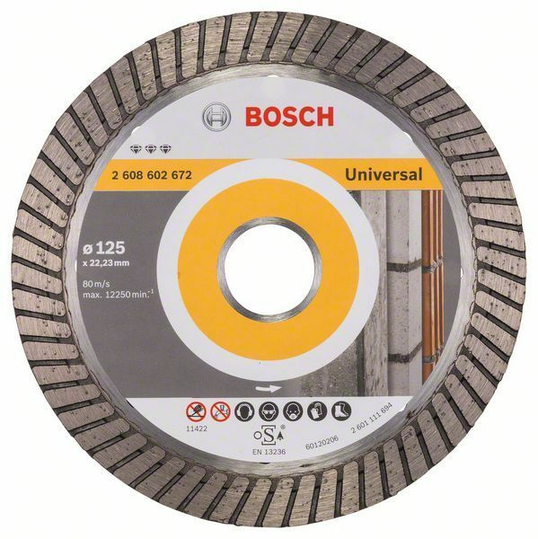 Diamantový dělicí kotouč Best for Universal Turbo - 125 x 22,23 x 2,2 x 12 mm - 3165140581 BOSCH