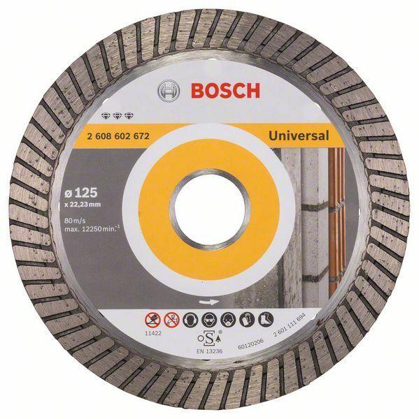 Diamantový dělicí kotouč Best for Universal Turbo - 125 x 22,23 x 2,2 x 12 mm - 3165140581 BOSCH