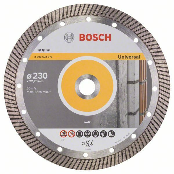 Diamantový dělicí kotouč Best for Universal Turbo - 230 x 22,23 x 2,5 x 15 mm - 3165140581 BOSCH