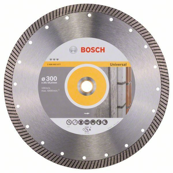 Diamantový dělicí kotouč Best for Universal Turbo - 300 x 20,00+25,40 x 3 x 15 mm BOSCH