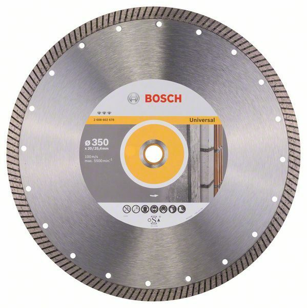 Diamantový dělicí kotouč Best for Universal Turbo - 350 x 20,00+25,40 x 3,2 x 12 mm BOSCH