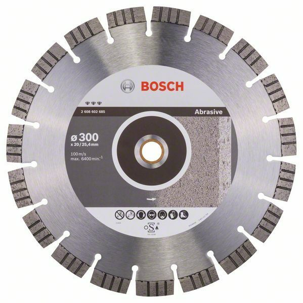 Diamantový dělicí kotouč Best for Abrasive - 300 x 20,00+25,40 x 2,8 x 15 mm BOSCH