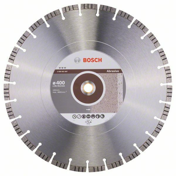 Diamantový dělicí kotouč Best for Abrasive - 400 x 20,00+25,40 x 3,2 x 12 mm - 31651405819 BOSCH