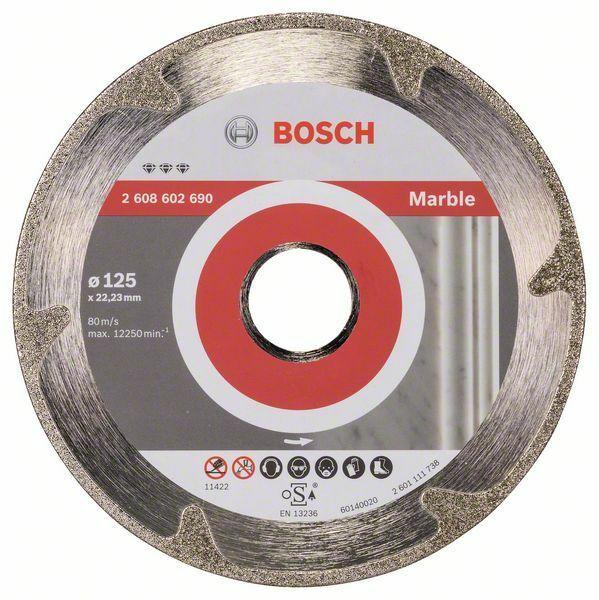 Diamantový dělicí kotouč Best for Marble - 125 x 22,23 x 2,2 x 3 mm - 3165140581967 BOSCH
