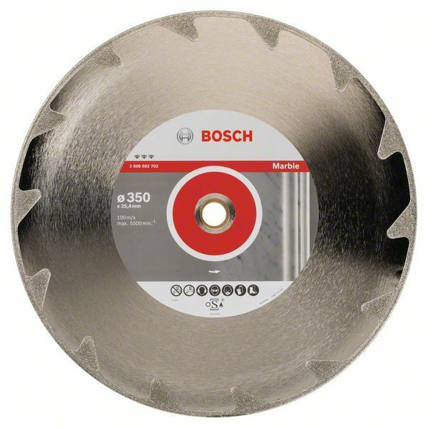 Diamantový dělicí kotouč Best for Marble - 350 x 25,40 x 2,6 x 5 mm - 3165140586900 BOSCH