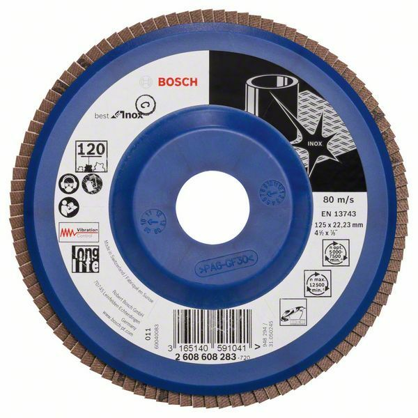 Lamelový brusný kotouč X581, Best for Inox; 125 mm, 22,23, 120 - 3165140591041 BOSCH