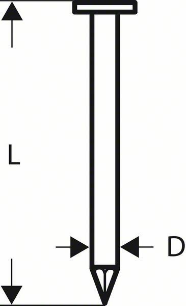 Hřebíky na střešní lepenku CN 45-15 HG - 45 mm, žárově pozinkovaný BOSCH