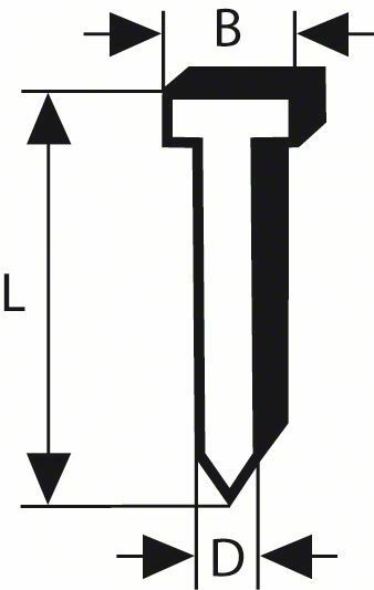 Hřeb se zápustnou hlavou SK64 20G - 38 mm, pozinkovaný - 3165140621694 BOSCH