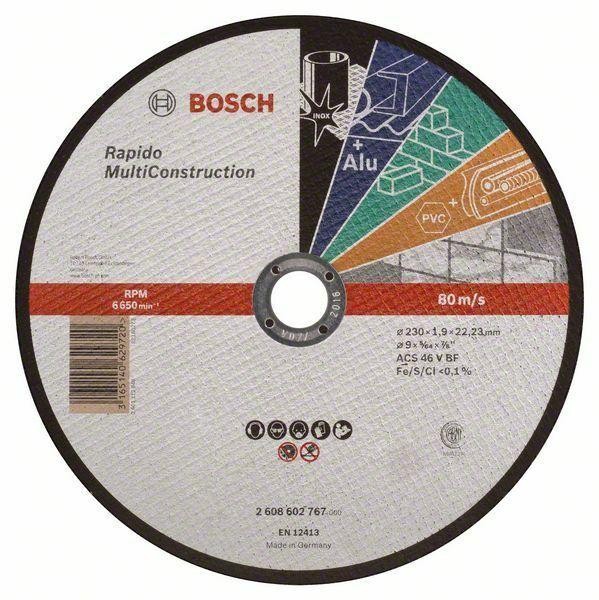 Dělicí kotouč rovný Rapido Multi Construction - ACS 46 V BF, 230 mm, 1,9 mm - 316514062972 BOSCH
