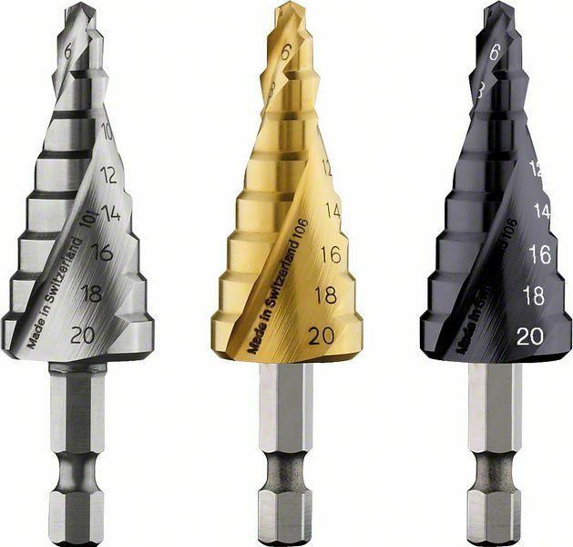 Stupňovité vrtáky HSS-TiN - 4 - 20 mm, 70,5 mm - 3165140630276 BOSCH