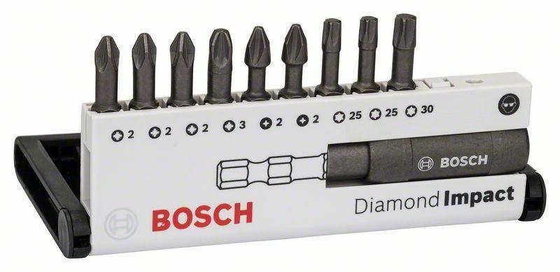 10dílná sada šroubovacích bitů Diamond Impact (smíšená) - Diamond Impact, 10tlg. Set, 25 m BOSCH