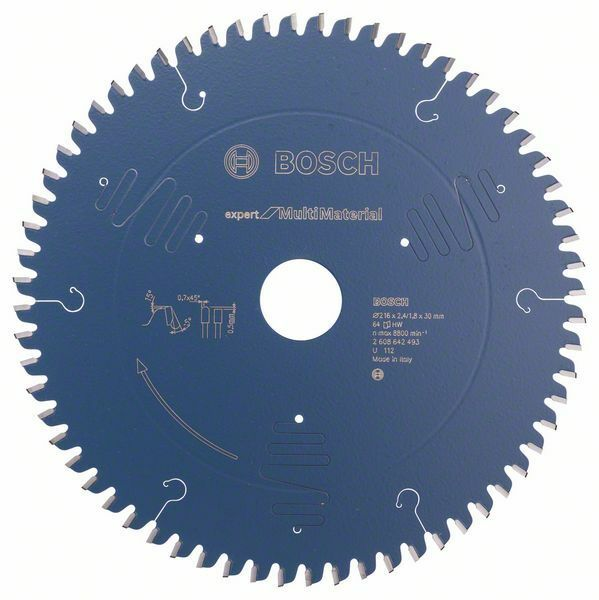 Pilový kotouč Expert for Multi Material - 216 x 30 x 2,4 mm, 64 - 3165140648189 BOSCH