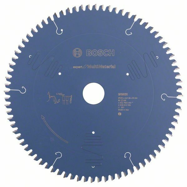 Pilový kotouč Expert for Multi Material - 250 x 30 x 2,4 mm, 80 - 3165140648196 BOSCH