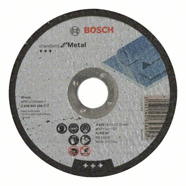 Dělicí kotouč rovný Standard for Metal - A 30 S BF, 125 mm, 22,23 mm, 2,5 mm - 31651406582 BOSCH