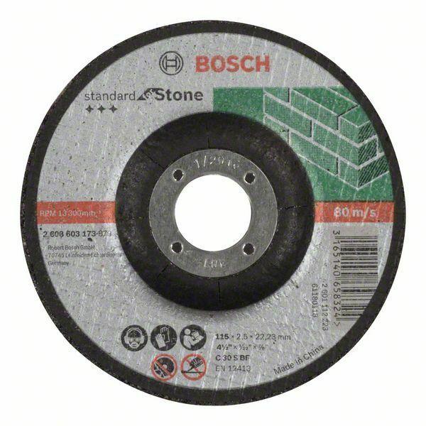 Dělicí kotouč profilovaný Standard for Stone - C 30 S BF, 115 mm, 22,23 mm, 2,5 mm - 31651 BOSCH