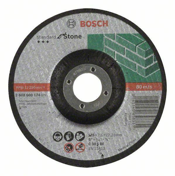 Dělicí kotouč profilovaný Standard for Stone - C 30 S BF, 125 mm, 22,23 mm, 2,5 mm - 31651 BOSCH