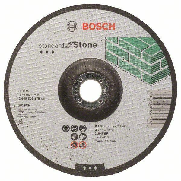 Dělicí kotouč profilovaný Standard for Stone - C 30 S BF, 180 mm, 22,23 mm, 3,0 mm - 31651 BOSCH