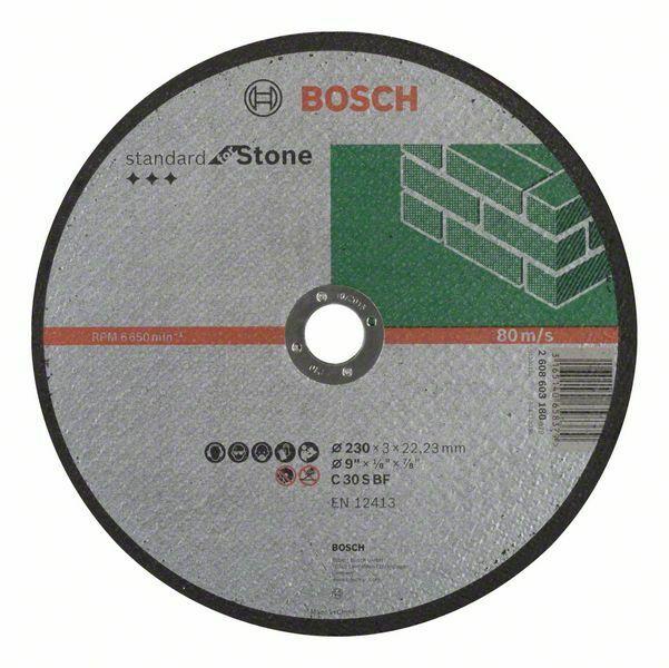 Dělicí kotouč rovný Standard for Stone - C 30 S BF, 230 mm, 22,23 mm, 3,0 mm - 31651406583 BOSCH