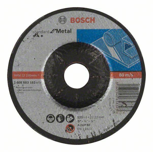 Hrubovací kotouč profilovaný Standard for Metal - A 24 P BF, 125 mm, 22,23 mm, 6,0 mm - 31 BOSCH