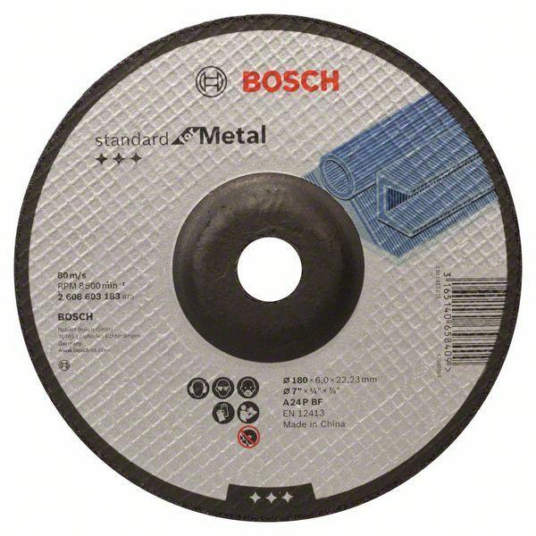 Hrubovací kotouč profilovaný Standard for Metal - A 24 P BF, 180 mm, 22,23 mm, 6,0 mm - 31 BOSCH