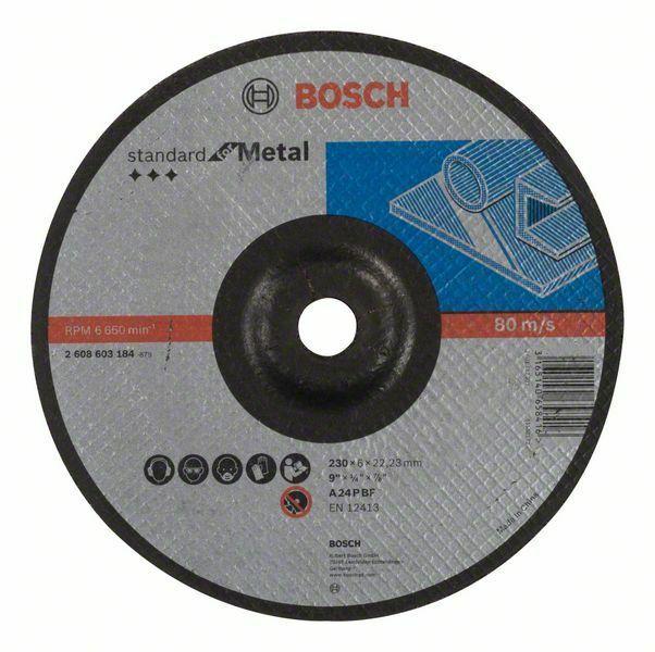 Hrubovací kotouč profilovaný Standard for Metal - A 24 P BF, 230 mm, 22,23 mm, 6,0 mm - 31 BOSCH