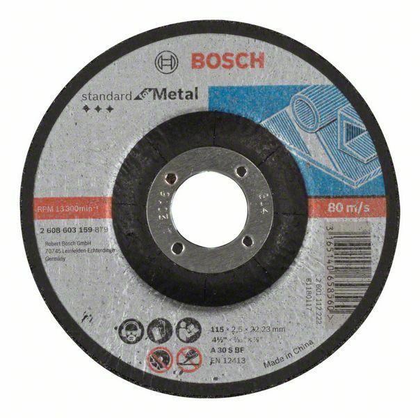 Dělicí kotouč profilovaný Standard for Metal - A 30 S BF, 115 mm, 22,23 mm, 2,5 mm - 31651 BOSCH