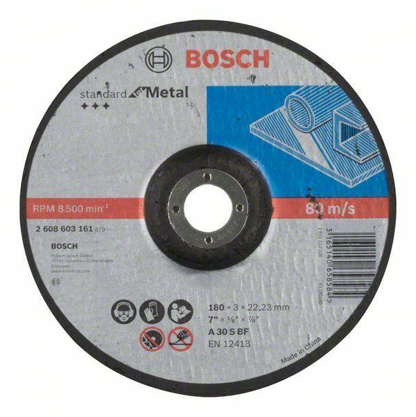 Dělicí kotouč profilovaný Standard for Metal - A 30 S BF, 180 mm, 22,23 mm, 3,0 mm - 31651 BOSCH
