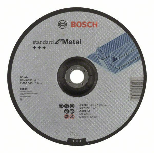 Dělicí kotouč profilovaný Standard for Metal - A 30 S BF, 230 mm, 22,23 mm, 3,0 mm - 31651 BOSCH