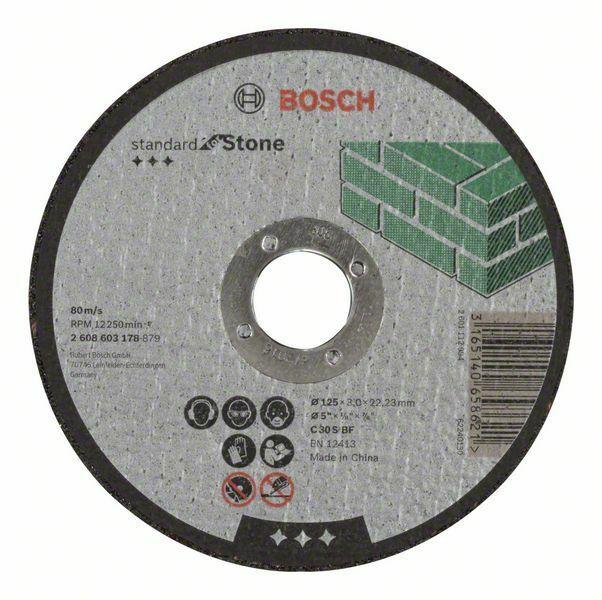 Dělicí kotouč rovný Standard for Stone - C 30 S BF, 125 mm, 22,23 mm, 3,0 mm - 31651406586 BOSCH