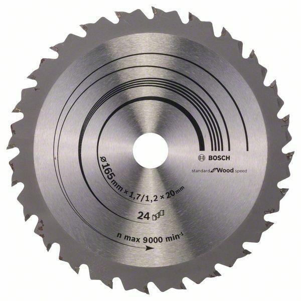 Pilový kotouč Speedline Wood - 165 x 20/16 x 1,7 mm, 24 - 3165140660266 BOSCH